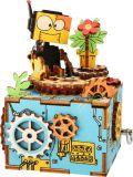 Small Foot Dřevěná stavebnice muzikální dekorace Robot