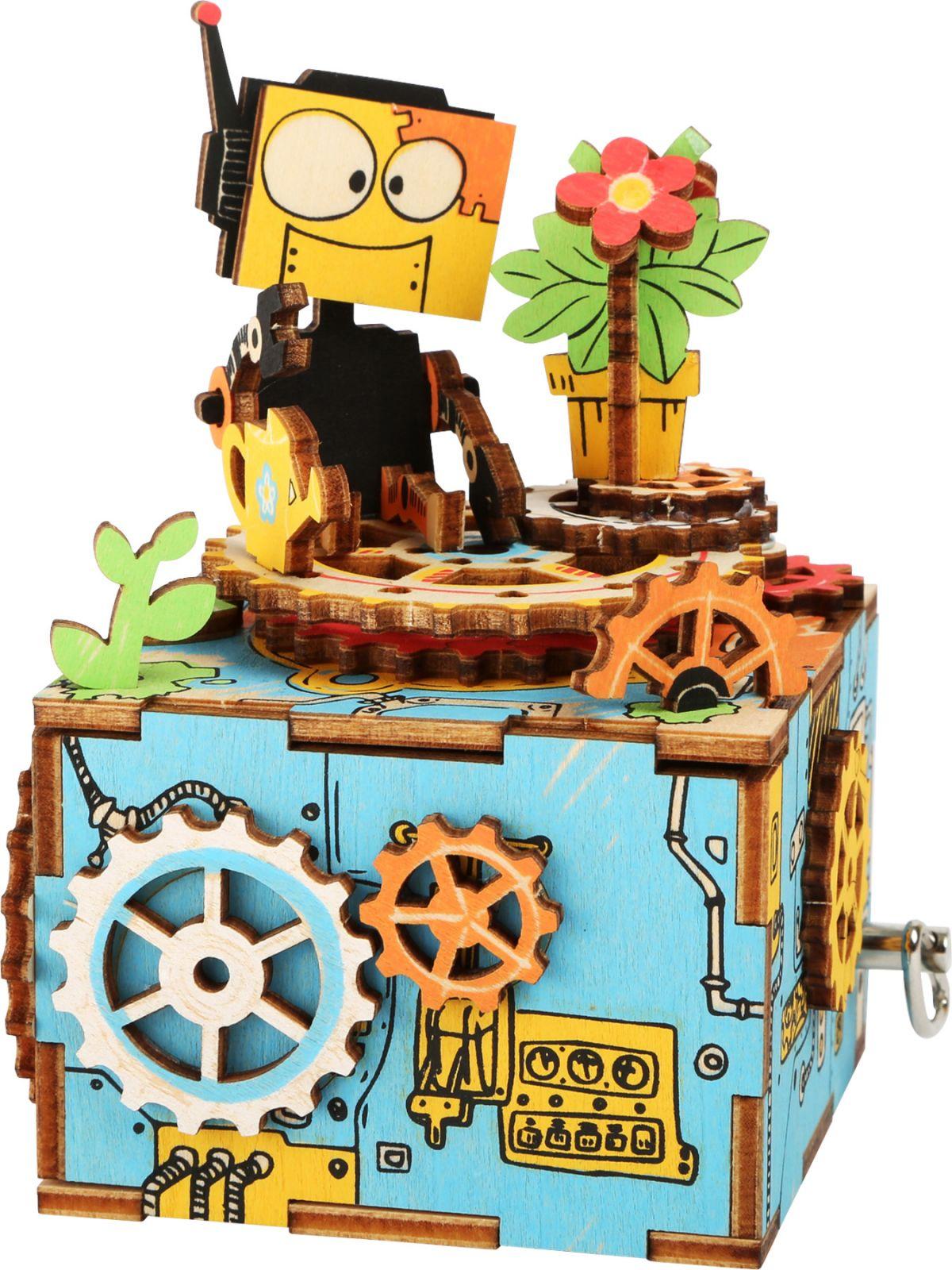 Dřevěné hračky Small Foot Dřevěná stavebnice muzikální dekorace Robot Small foot by Legler