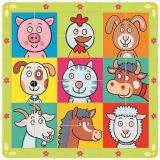 Dřevěné hračky Bino Dřevěné hračky puzzle zvířecí hlavičky