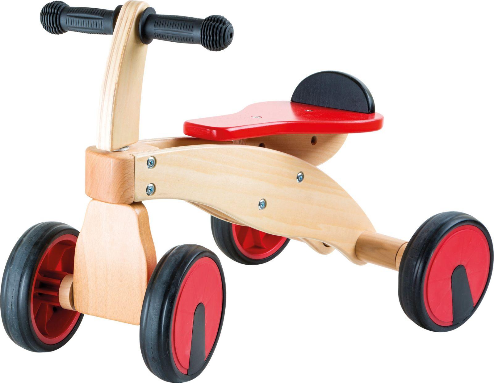 Dřevěné hračky Small Foot Dřevěné odrážedlo červený závodník Small foot by Legler