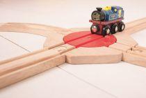 Dřevěné hračky Bigjigs Rail Točna se 4 výjezdy