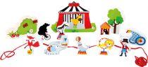 Small Foot Dřevěný navlékací hrací set cirkus