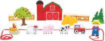 Small Foot Dřevěné navlékací hrací set farma