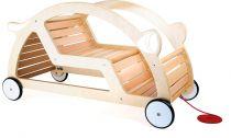 Dřevěné tahací a houpací auto 2v1 - sestavené