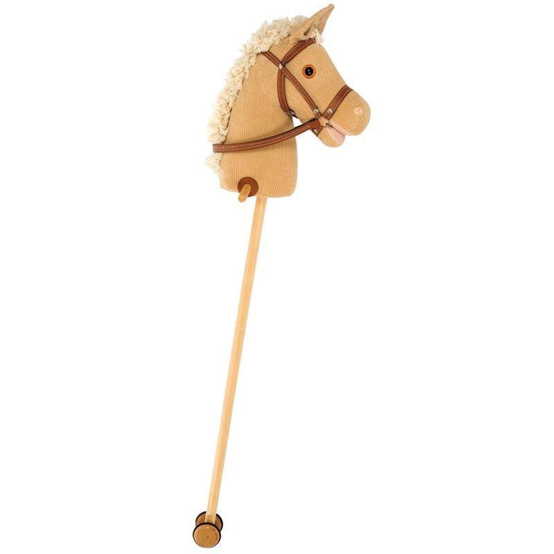 Dřevěné hračky Bigjigs Toys Manšestrový kůň na tyči