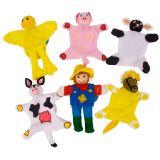 Dřevěné hračky Bigjigs Toys Prstoví maňásci sada farma