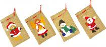 Vánoční dekorační pytlíky 4ks