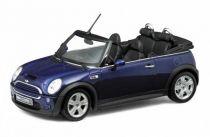 Welly - Mini Cooper S cabrio model 1:24 modrý