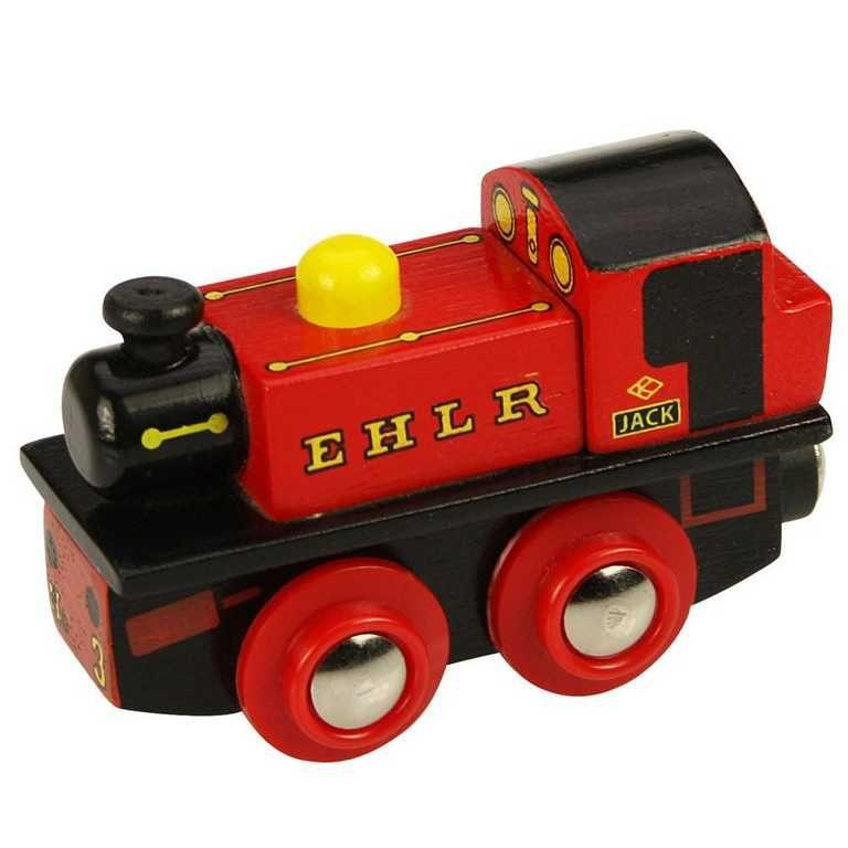 Dřevěné hračky Bigjigs Rail dřevěná replika lokomotivy - EHLR Jack