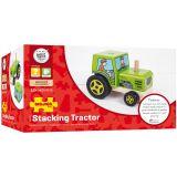 Dřevěné hračky Bigjigs Baby Nasazování traktor Bigjigs Toys