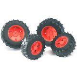 Bruder - Dvojitá kola pro traktory řady 3000 - oranžová
