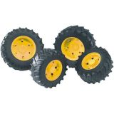 Bruder - Dvojitá kola pro traktory řady 3000 - žlutá