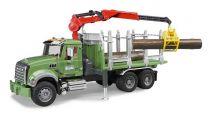 Bruder - Nákl.auto MACK Granit - přepravník dřeva