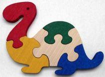 Dřevěné hračky - vkládací puzzle - Brontosaurus bez rámečku