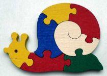 Dřevěné hračky - vkládací puzzle - Šnek bez rámečku