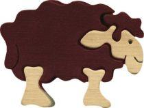 Fauna Dřevěné vkládací puzzle z masivu malá ovečka Shaun