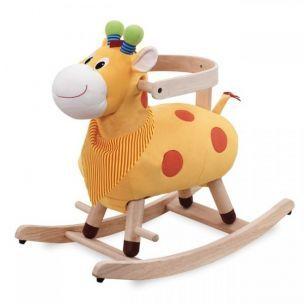 Dřevěné hračky Wonderworld Houpací žirafa