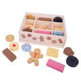 Bigjigs Toys Box s dřevěnými sušenkami