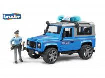 Bruder - Auto Land Rover policie s figurkou