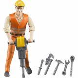 Buder figurka - lesní stavební dělník