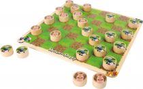 Small Foot Dřevěná hra Dáma ovečka Shaun