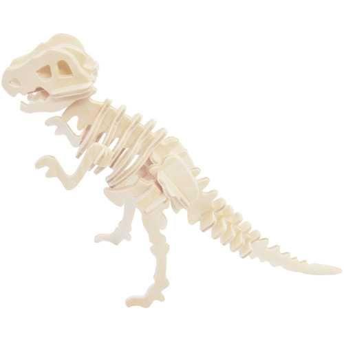 Dřevěné hračky Dřevěné 3D puzzle skládačka - dinosauři Tyrannosaurus Woodcraft construction kit