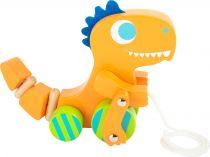 Small Foot  Dřevěný tahací dinosaurus