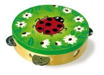 Dřevěné hračky Small Foot Dětské hudební nástroje tamburína Beruška Small foot by Legler