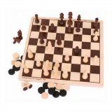 Dřevěné hračky Bigjigs Toys Dřevěné šachy a dáma