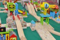 Dřevěné hračky Bigjigs Rail Dlouhé rovné koleje 21cm 4ks