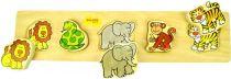 Dřevěné hračky Bigjigs Baby Dřevěné vkládací puzzle safari Bigjigs Toys