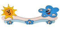 Dřevěné hračky DoDo Dřevěný 3 věšáček sluníčko s mráčkem