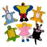 Dřevěné hračky Bigjigs Toys Prstoví maňásci sada Domácí zvířátka