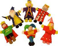 Dřevěné hračky Bigjigs Toys Prstoví maňásci pohádkové postavičky z království