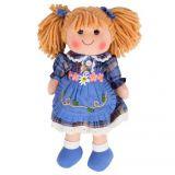Dřevěné hračky Bigjigs Toys Látková panenka Katie 34 cm
