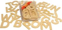 Dřevěné hračky Bigjigs Toys Dřevěná abeceda velká písmena
