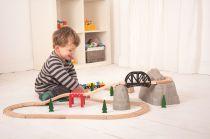 Dřevěné hračky Bigjigs Rail Set vysokohorská dráha