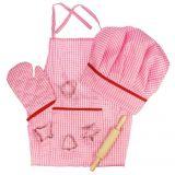 Dřevěné hračky Bigjigs Toys Růžový set šéfkuchařky