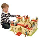 Dřevěné hračky Bigjigs Toys Dřevěný hrad krále Artuše