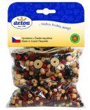 Dřevěné hračky Detoa Mix perlí hnědopřírodní 70g