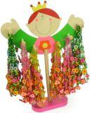 Dřevěné hračky Bigjigs Toys displej Dřevěné náhrdelníky 48ks