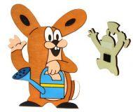 Dřevěné hračky DoDo Dřevěná dekorační magnetka Krtkův kamarád zajíc