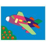 Dřevěné hračky Dřevěné vkládací puzzle letadlo Vkládačky