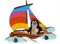 Dřevěné hračky DoDo Dřevěný 2 věšáček Krtek na lodi