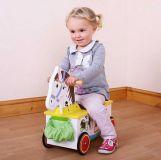 Dřevěné hračky Bigjigs Baby Dřevěný motorický vozík zebra Bigjigs Toys
