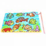 Dřevěné hračky Bigjigs Toys Chytání rybiček na desce
