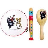 Dřevěné hračky Bino hudební set Krtek