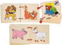 Dřevěné hračky Dřevěné hračky - Obrázková knížka Mašinka Woody