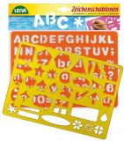 Dřevěné hračky Lena Kreslící šablony (symboly, písmena)