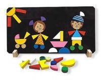 Dřevěné hračky Detoa Magnetické puzzle Děti